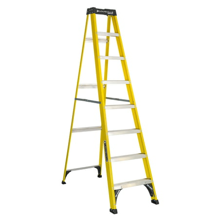Louisville Ladder 8-Foot Fiberglass Step Ladder, Type I, 250-Pound Capacity, W-3118-08