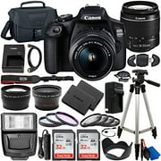 Canon EOS 2000D (Rebel T7) DSLR Camera with EF-S 18-55mm f/3.5-5.6 Lens & Deluxe Accessory Bundle – Includes: 2x SanDisk Ultra 32GB SDHC Memory Card, Extended Life Battery, Carrying Case & MORE