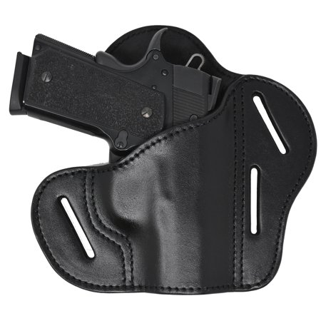 Garrison Grip Black Italian Leather Tactical Holster For All 1911 A1 Models