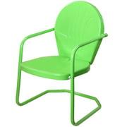 """34"""" Lime Green Outdoor Retro Tulip Armchair"""