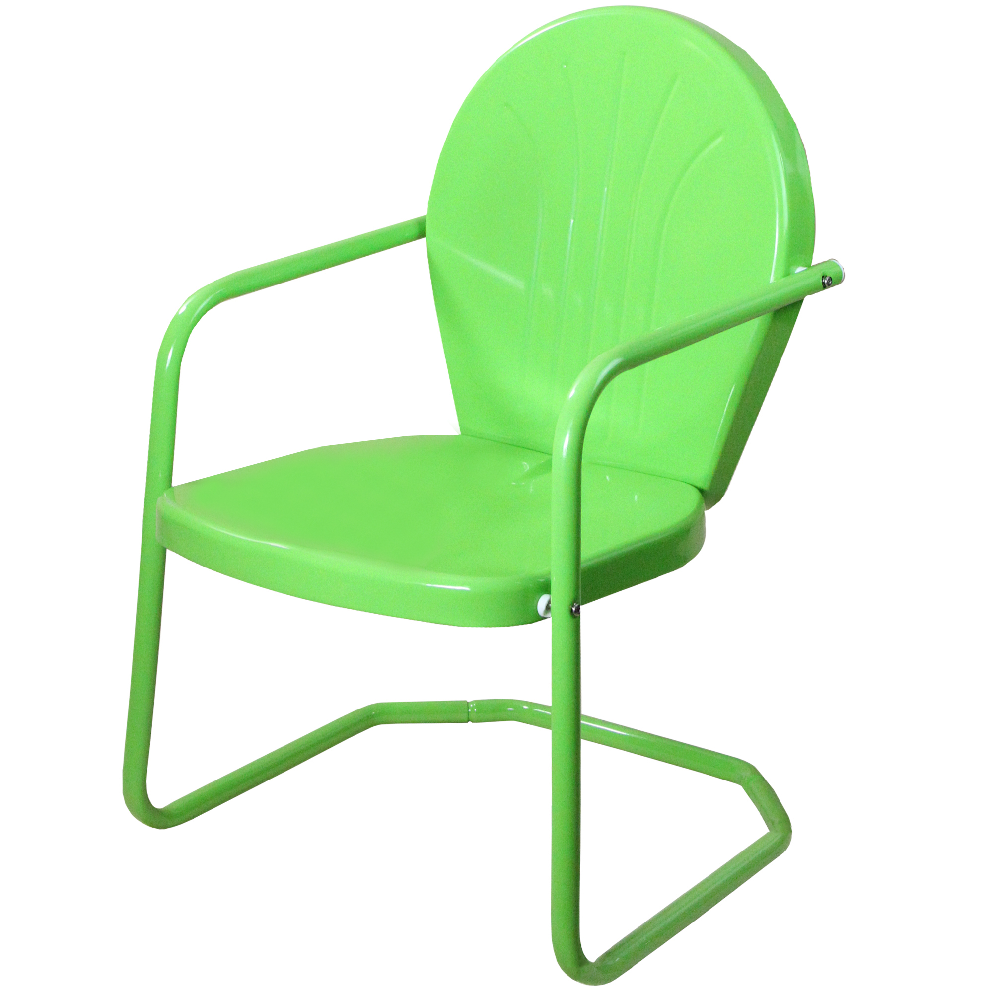 Outdoor Retro Metal Tulip Armchair, Lime Green