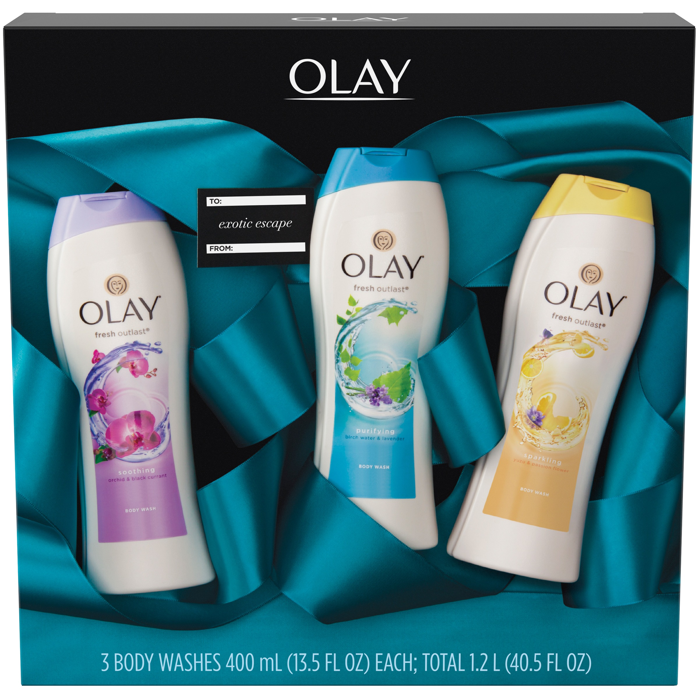 Olay® Fresh Outlast® Exotic Escape Body Wash Gift Pack 3 - 13.5 fl oz Box