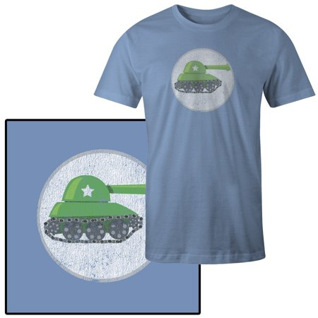 Men's Vector Illustration of a Tank T-Shirt