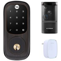 Yale Locks Assure Lock Touchscreen with Z-Wave in Oil Rubbed Bronze (YRD226) Smart Front Door Bundle With Xtreme WiFi Smart HD Video Doorbell Camera And Door Chime