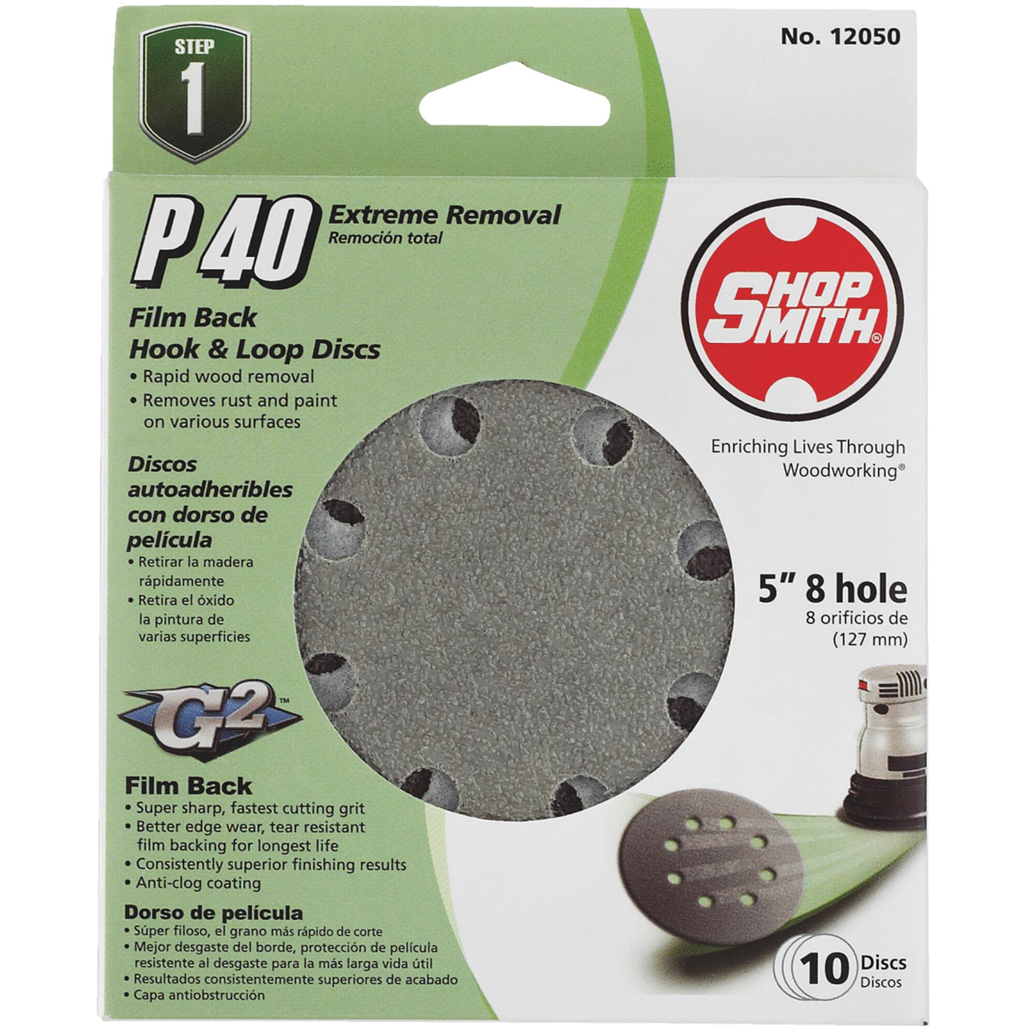 Shop Smith 5 In. Hook & Loop Vented Sanding Disc