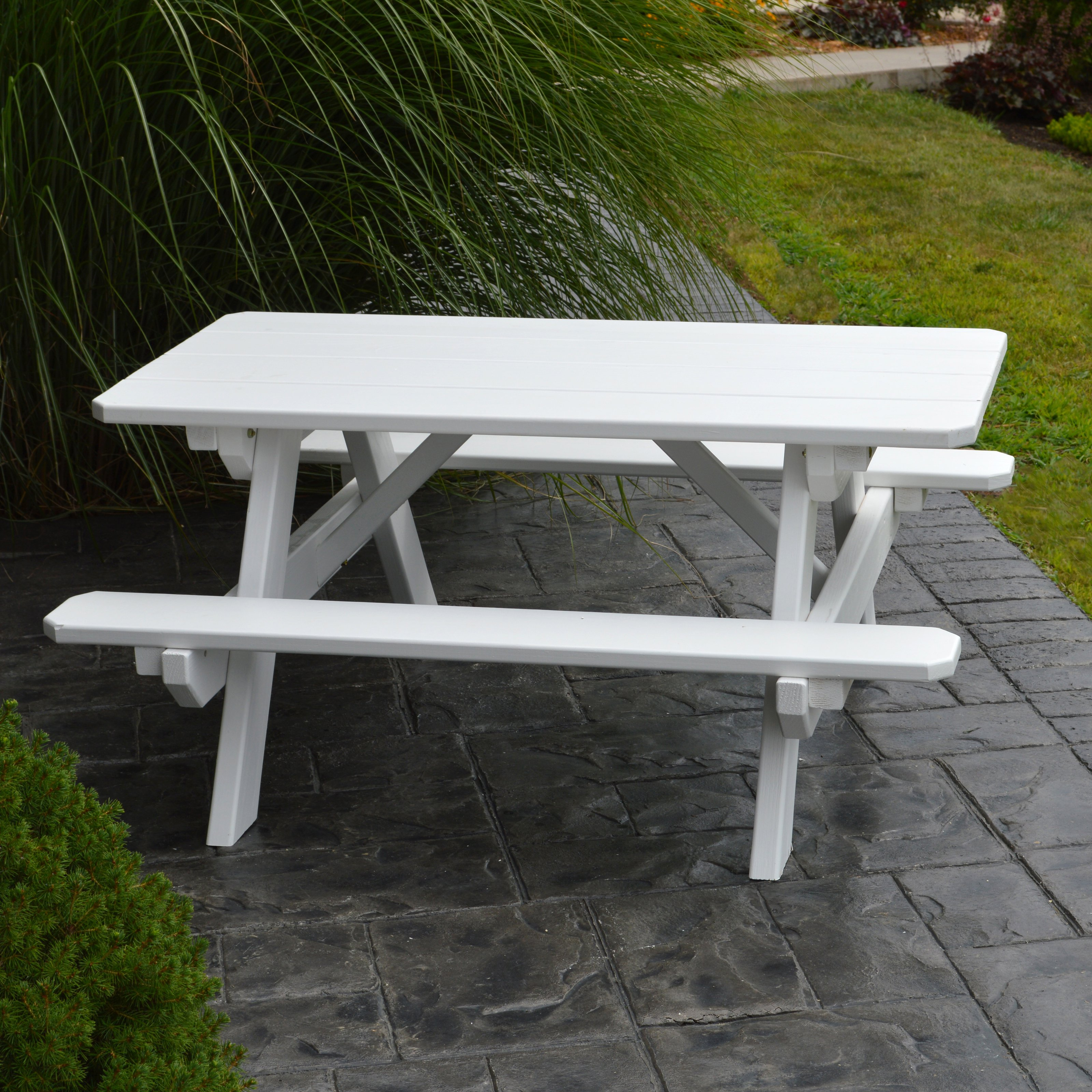 A & L Furniture Yellow Pine Kids Picnic Table