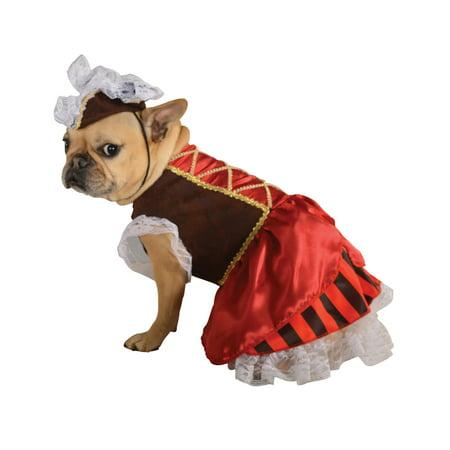 Pirate Buccaneer Caribbean Girl Pet Dog Cat Halloween Costume](Halloween Names For Girl Dogs)