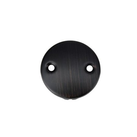 Premier Copper Products D-352ORB Two-Hole Overflow Cover / Face Plate