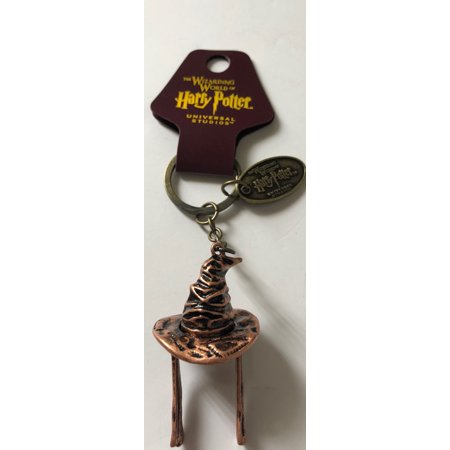 Universal Studios Harry Potter 3D Sorting Hat Keychain New with (Hat New Tags)