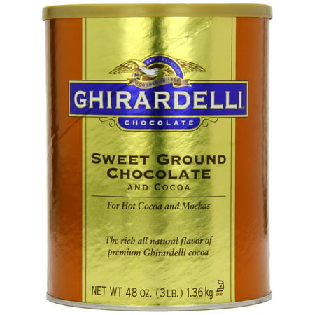 Ghirardelli Chocolate Sweet Ground Chocolate & Cocoa Beverage Mix, 48 Ounce (Ghirardelli Vanilla Hot Chocolate)