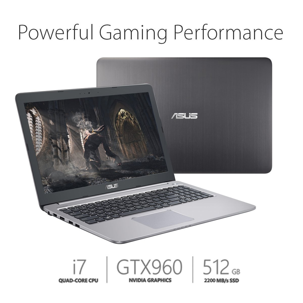 Asus K501UW-AB78 15.6-inch Full-HD Gaming Laptop (Intel C...