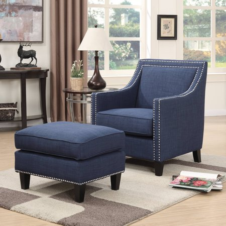 Picket House Emery Accent Chair With Ottoman Walmart Com