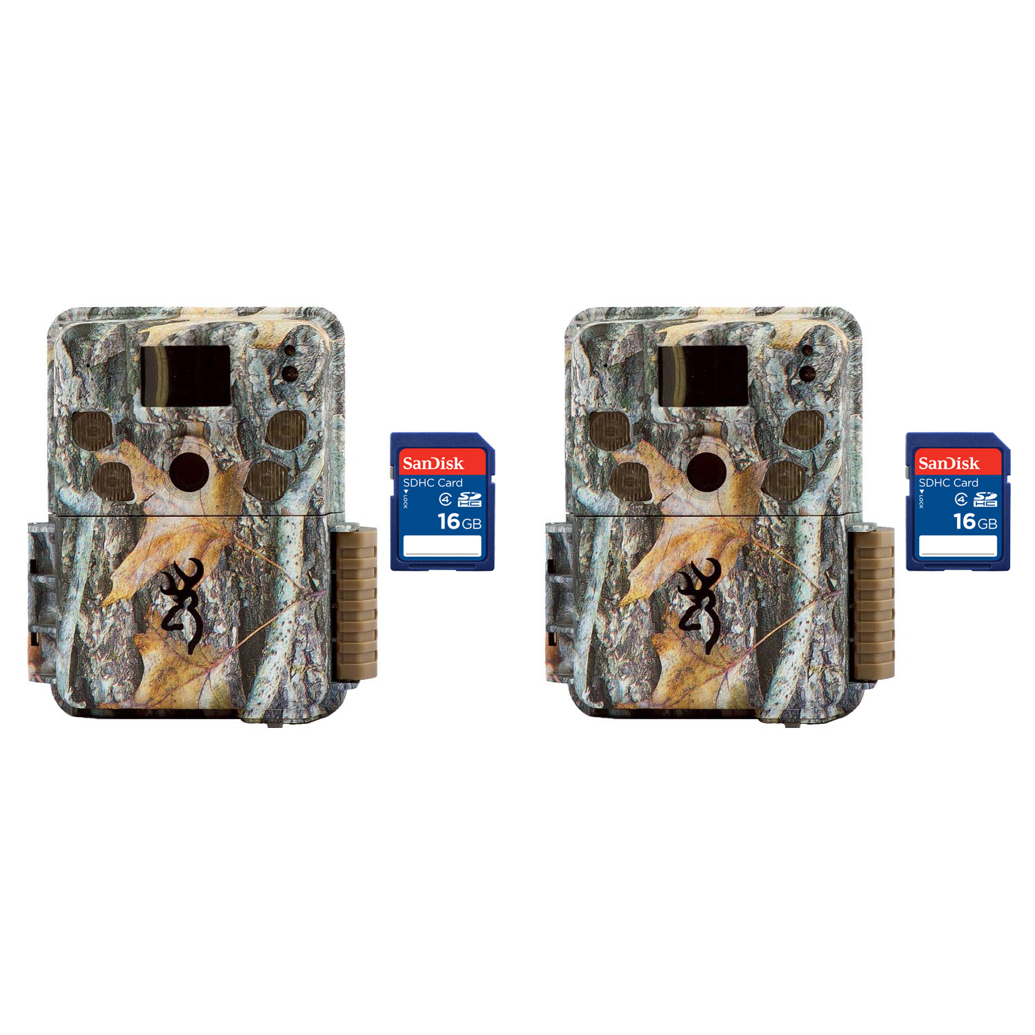 Browning Trail Cameras Strike Force Pro 18MP Game Cameras, 2 Pack + 8GB SD Cards by Browning Trail Cameras