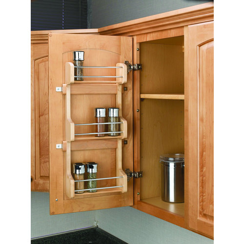 "Rev-A-Shelf 4SR-15 4SR Series Door Mount Spice Rack for 15"" Wall Cabinet"