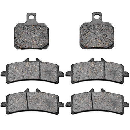 KMG Front + Rear Brake Pads for 2011 Ducati 1198 SP 1198R Special Edition - Non-Metallic Organic NAO Brake Pads Set - image 4 of 4