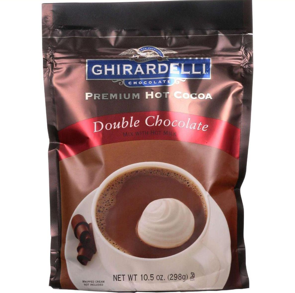 Ghirardelli Hot Cocoa Premium Double Chocolate 10.5 oz case of 6 by