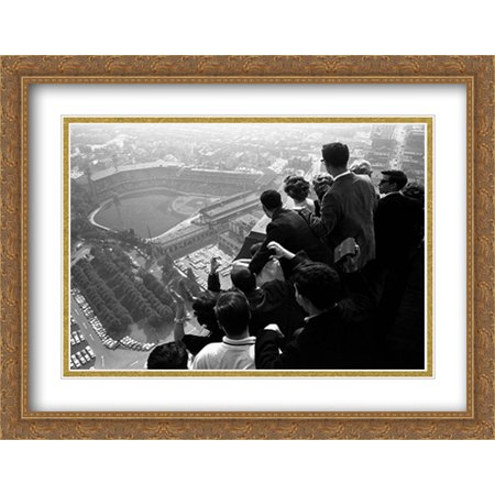 World Series, Pittsburgh, 1960 2x Matted 32x26 Large Gold Ornate Framed Art Print by George Silk