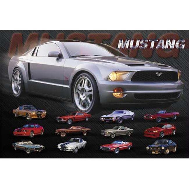 Hot Stuff 2477-16x20-CB Mustang affiche Evolution - image 1 de 1