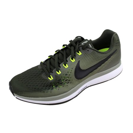 Nike Mens Air Zoom Pegasus 34 SequoiaBlack-Dark Stucco-Volt 880555-
