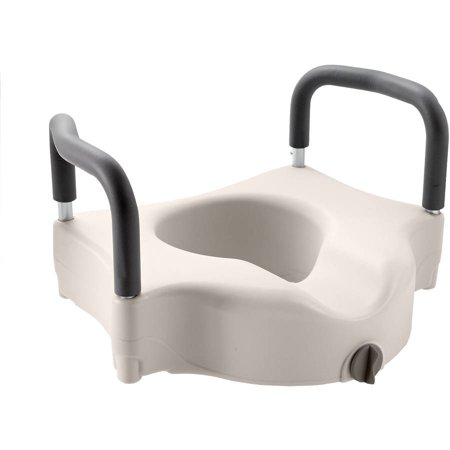 Medline Elevated Locking Toilet Seat With Arms