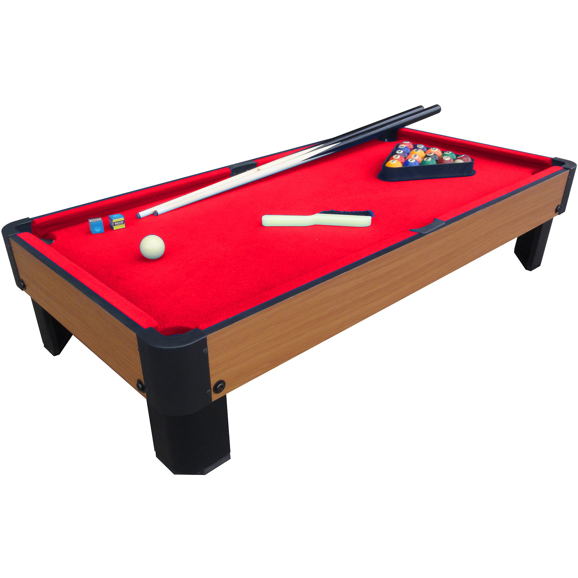 """Playcraft Sport Bank Shot 40"""" Pool Table with Red Cloth"""