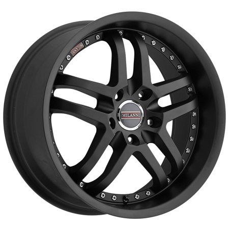 Milanni 9012 Kapri 22x9 5x120 +15mm Satin Black Wheel Rim 22