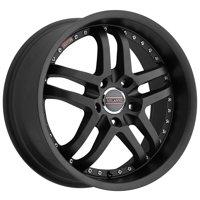 "Milanni 9012 Kapri 22x9 5x120 +15mm Satin Black Wheel Rim 22"" Inch"