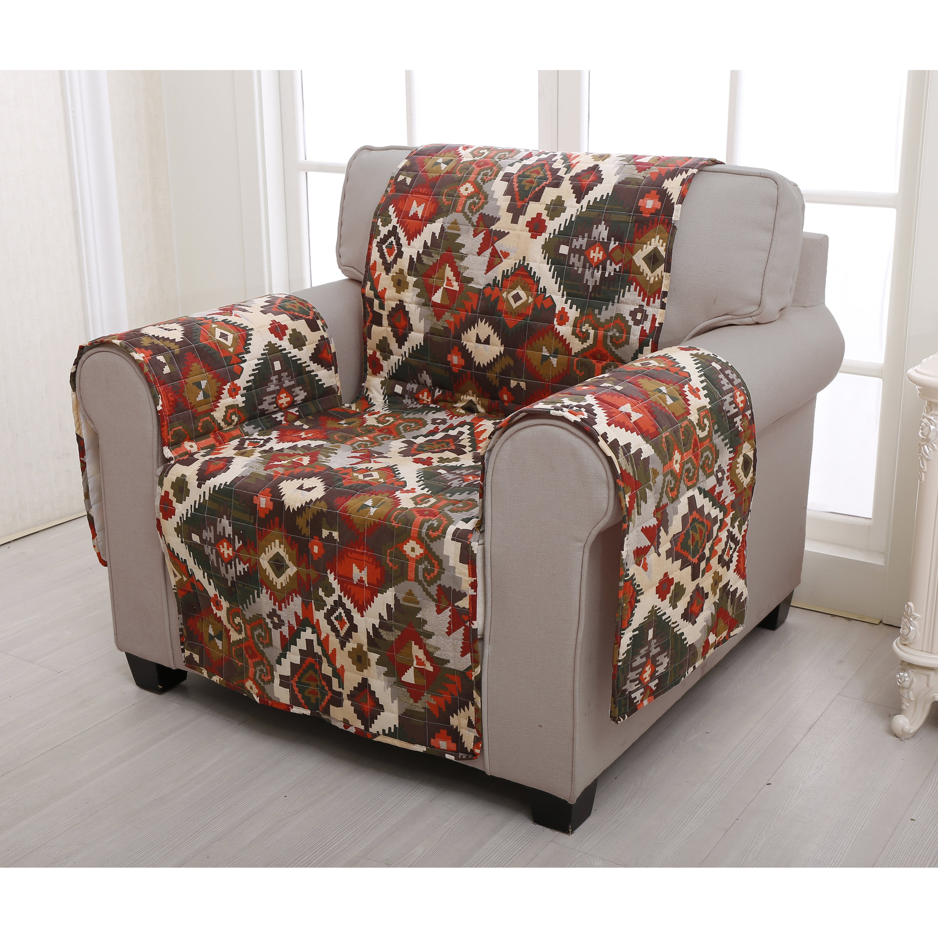 Greenland Home Fashions Folk Festival Arm Chair Furniture Protector