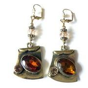 Palmtree Gems Amber' Dangle Earrings