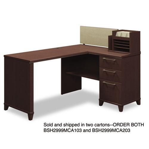 "Bush 60"" W x 47"" D Corner Desk Solution Box 2 of 2 Enterprise: Moch..."