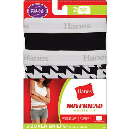 Hanes - Women s Panty B249AS Boyfriend Boxer Brief - Walmart.com e60070c5ae