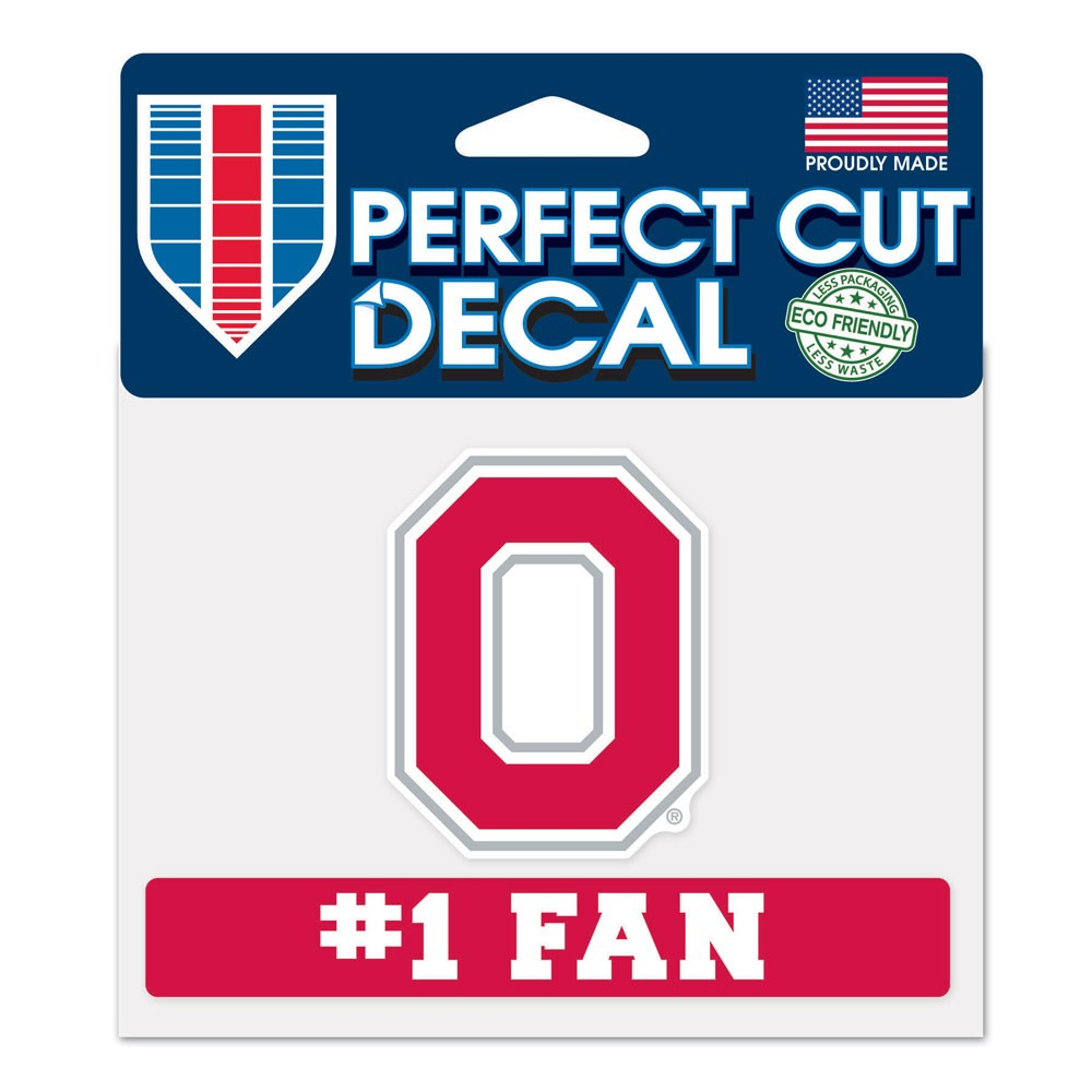 Ohio State Buckeyes Official NCAA 4 inch  x 5 inch  Die Cut Car Decal by Wincraft
