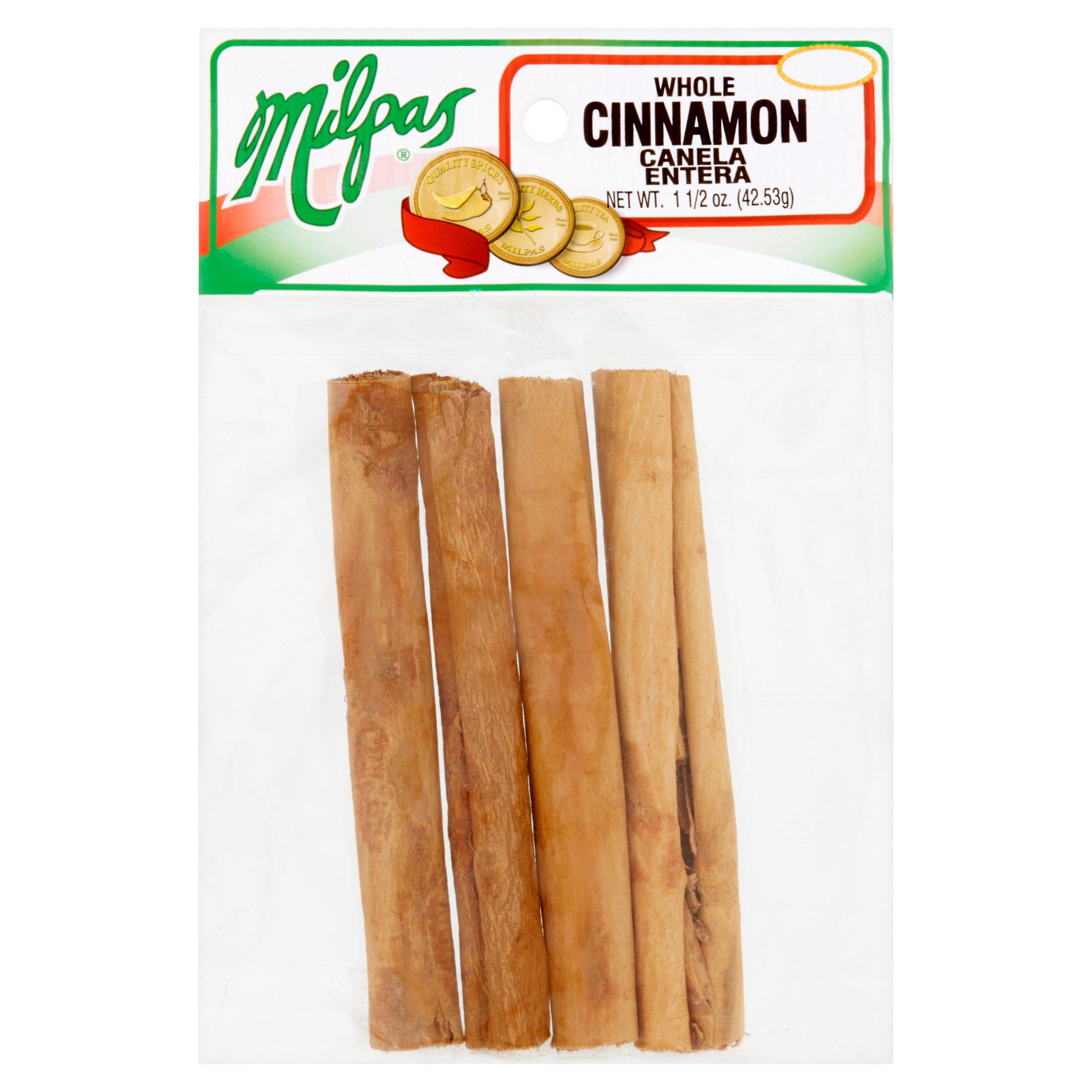 (4 Pack) Milpas Whole Cinnamon, 1 1/2 oz