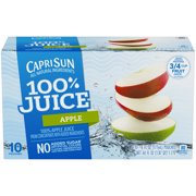 (4 Pack) Capri Sun 100% Juice Apple Ready-to-Drink Soft Drink, 10 - 6 fl oz Pouches ()