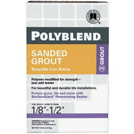 PBG107-4 Polyblend Sanded Colored Tile Grout, 7 LB, This item is Polyblend Sanded Colored Tile Grout Dry Antique White 7 Lb By Custom Building (Custom Building Products Polyblend Grout Color Platinum)