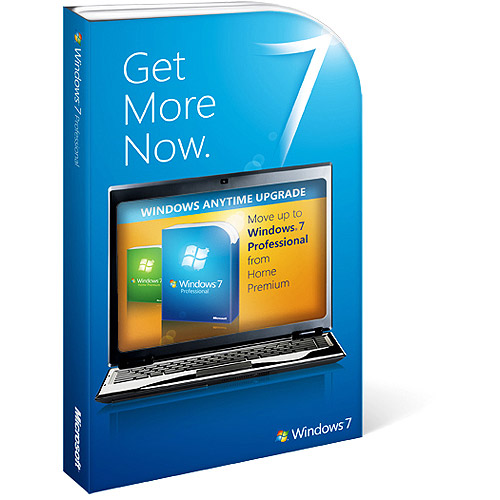 Microsoft Corporation Windows 7 Home Premium to Windows 7 Professional - Anytime Upgrade