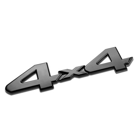 3D Letter Metal Emblem 4x4 Badge (Black) - (Medals Emblems)