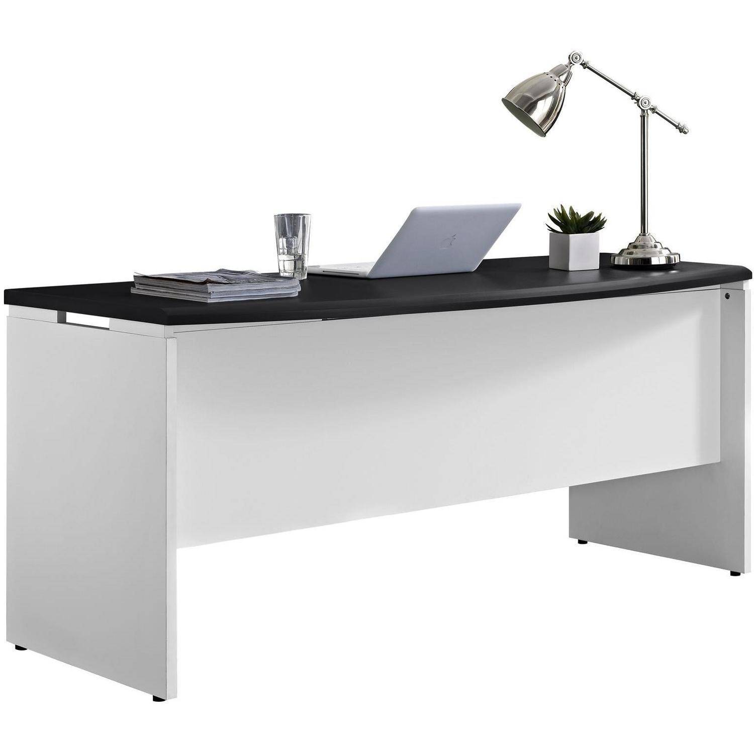 Desk Men Women Home Furniture Pursuit Computer Work Executive White Gray
