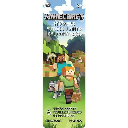 Minecraft Flip Pack Stickers 6 Sheets (Minecraft Stickers)