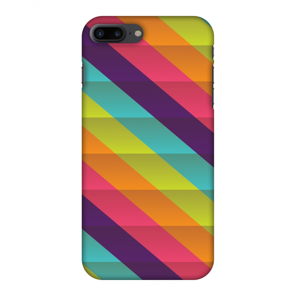 iPhone 7 Plus Case - Bold stripes 2, Hard Plastic Back Cover. Slim Profile Cute Printed Designer Snap on Case with Screen Cleaning Kit