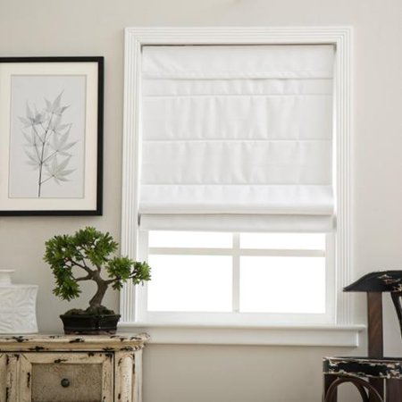 arlo blinds cloud white cordless fabric roman blackout shades. Black Bedroom Furniture Sets. Home Design Ideas
