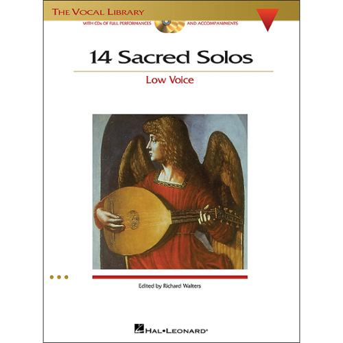 Hal Leonard 14 Sacred Solos for Low Voice Book 2CD's by