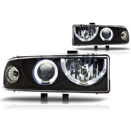 Winjet 1998-2005 Chevrolet Blazer Black Clear Halo Projector Head Light - Chevrolet Blazer Cornering Light