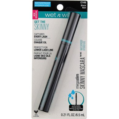 Wet n Wild MegaSlim Skinny Waterproof Mascara, Black C146, 0.21 fl