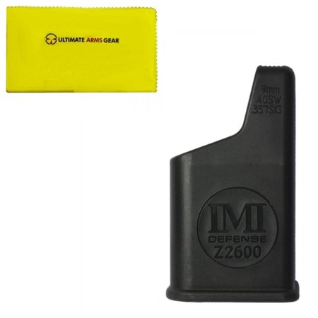 IMI Defense Z2600 Pistol Magazine Loader For 9mm, .40 S&W, .357 Caliber Mags + Ultimate Arms Gear Care and Reel Silicone Cleaning
