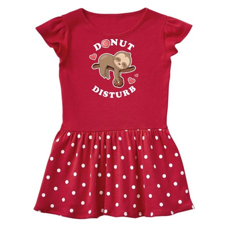 Donut Disturb Sloth Toddler Dress