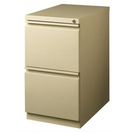 Hirsh 23 in Deep 2 Drawer Mobile Pedestal File in Putty - image 3 de 4