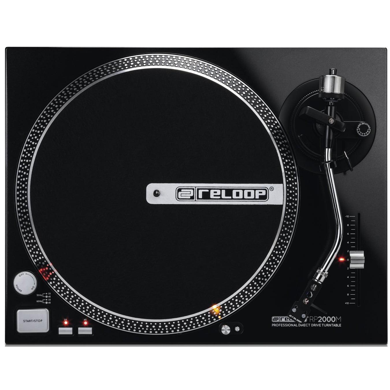Reloop RP-2000-M DJ Turntable with Quartz Driven Direct Drive, Metallic Black by Reloop