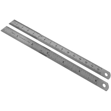 2 pack of sae metric stainless steel ruler measures up to 6 inches or 15 5 cm. Black Bedroom Furniture Sets. Home Design Ideas