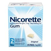Nicorette Nicotine Gum to Stop Smoking, 2mg, Original Unflavored - 170 Count